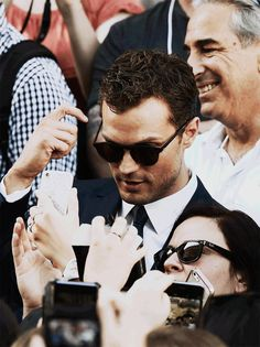 """Jamie Dornan after filming """"Fifty Shades Freed"""" with fans in France, Paris, July 18"""