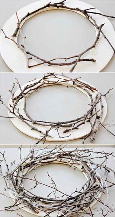 large Christmas decorations to make yourself - set Nordic accents - Weihnachten. - large Christmas decorations to make yourself – set Nordic accents – Weihnachten – # - Large Christmas Decorations, Rustic Christmas, Christmas Diy, Easter Crafts, Christmas Crafts, Christmas Ornaments, Diy Wreath, Grapevine Wreath, Advent Wreath
