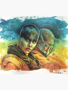 'Fury Road Poster by illusoryart Mad Max, Tom Hardy, Watercolor Paintings, Studio, Prints, Poster, Fictional Characters, Art, Art Background