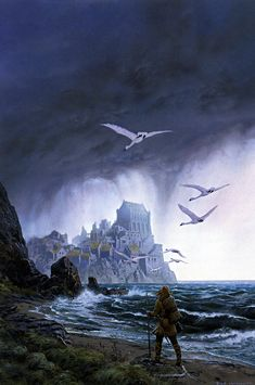 ted nasmith_the silmarillion_2_quenta silmarillion_23_of tuor and the fall of gondolin1_tuor at vinyamar.jpg (1061×1600)