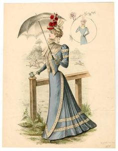 1895-1898, Plate 144 :: Costume Institute Fashion Plates