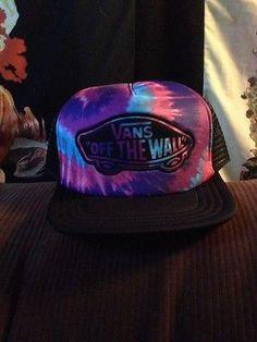 50b67cb1 VANS Off the Wall Pink Blue Purple TieDye Black Summer Trucker Hat  Karmaloop Nwt