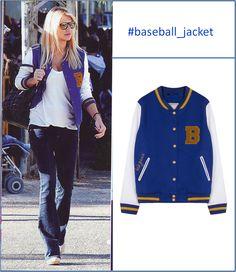 Faih Skorda on her Baseball athletic style jacket #fw13_bsb #bsb_jacket  photo: OK magazine