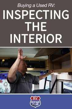 When buying a used RV, you should fully inspect every component on the vehicle, paying special attention to the interior components. To give you a good idea of what to look for when completing an inside inspection prior to buying a used RV, David Solberg checks over every part of the RV where damage could occur, going from front to back and high to low.