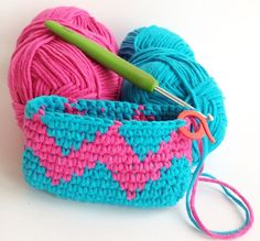 Tapestry Crochet Coin Purse | My Poppet Makes