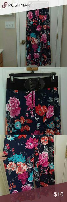 Flower Pants NWOT, beautiful pants, just don't fit me quite right , reposhed, floor length me 2 magic Pants