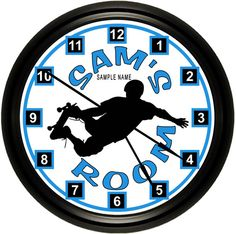 Love this Skateboard, Skateboarders, Skate Silhouette Personalized Custom Wall Clock for my boy's room