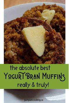 Janet's Yogurt Bran Muffins are light, moist, full of flavor, and quick to make. Healthy and delicious, they will be a new favourite. # Janet's Yogurt Bran Muffins – The Best You'll Ever Taste Healthy Muffin Recipes, Healthy Muffins, Healthy Snacks, Healthy Baking, Eating Healthy, Healthy Eats, Banana Bread Muffins, Baking Muffins, Brunch Recipes