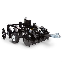 DR ATV Disc Harrow Wide, for ATVs, UTVs, or Garden Tractors Our ATV Disc Harrow is perfect for breaking up clods of soil after plowing to provide a smooth surface for planting. Will also chop up weed or old crop remainders. Atv Snow Plow, Types Of Farming, Polaris Atv, Small Tractors, Tractor Implements, Tractor Attachments, Garden Equipment, Tractor Supplies, Down On The Farm