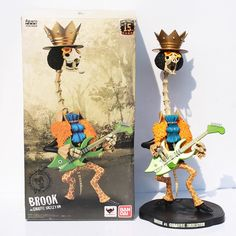 (26.88$)  Watch more here - http://aiyj1.worlditems.win/all/product.php?id=32597736250 - 40cm Brook One Piece Japanese Anime Figure One Piece Brook Action Figures PVC Toys Gifts Collectable Model