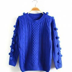 $22.99 Stylish Ball Decorate Ladies Pullover Swearer
