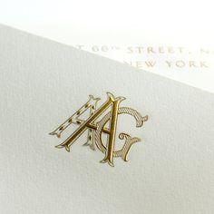 Custom monogram on bespoke stationery from Mrs. John L. Strong. www.mrsstrong.com