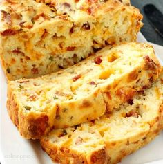 Bacon Jalapeno Popper Cheesy Bread is buttery & cheesy with a slight heat & wonderful bacon flavor, Perfect as a side, a breakfast or used in a sandwich.