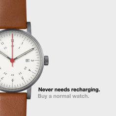 Unlike the Apple watch, our designer timepieces never need recharging. #applewatch