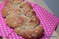 glutenfreier Hefezopf mit Mandeln #glutenfrei #laktosefrei #nussfrei