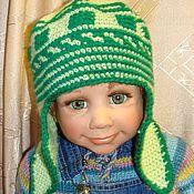 """Работы для детей, ручной работы. Ярмарка Мастеров - ручная работа Шапочка вязаная """"Свежая зелень"""". Handmade."""