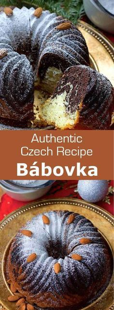 Bábovka is a delicious traditional Czech cake that usually consists of a layer of vanilla cake and a layer of chocolate cake. #CzechRepublic #CzechRecipe #CzechCuisine #WorldCuisine #196flavors