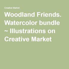 Woodland Friends. Watercolor bundle ~ Illustrations on Creative Market