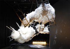 Theatre, L'opera di Loris Cecchini in allestimento (foto Stefano Ridolfi)