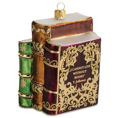 Glass Antique Books Ornament – Library of Congress Shop