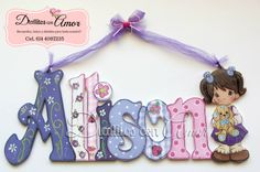 Cardboard Letters, Painted Letters, Wooden Letters, Name Plaques, Baby Shower, Diy Tutorial, Home Crafts, Names, Lettering