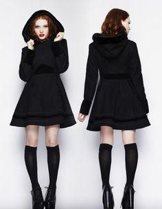 L'indien Boutique Manteaux & vestes femmes : Manteau femme Hell Bunny 8019 Sofia Coat