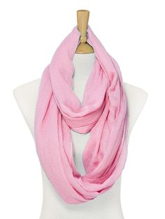 Lori Infinity Scarf in Soft Rose