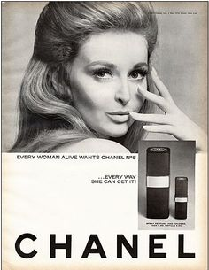 Every woman alive wants Chanel No. 5 . . . Every way she can get it! | Chanel | Advertisement