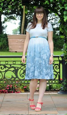 My Style: ASOS Floral Dip-Dye Dress