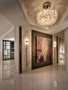 entrance design entry contemporary with wall sconces indoor fountains : entrance design entry contemporary with wall sconces indoor fountains Entry Way Design, Foyer Design, Entrance Design, Apartment Entrance, House Entrance, Entrance Foyer, Small Room Design, Home Room Design, Modern House Design