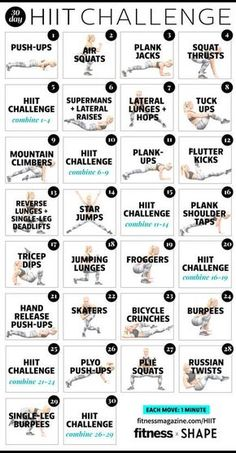 Ready to HIIT it for the holidays? Take our 30-day HIIT challenge. It's just 1 minute and 1 exercise move per day! #HIITchallenge