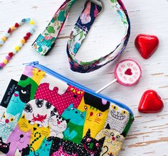 novamelina  Cutest pouches etc./ Ihanimmat pussukat ym: www.novamelina.com  #colorful #handmade #unique #pouch #pouches #cats #finnish #design