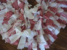 Shabby Chic Rag Christmas tree skirt