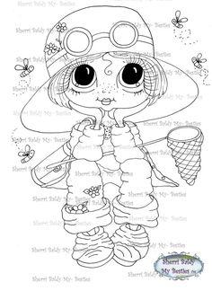 INSTANT DOWNLOAD Digital Digi Stamps Big Eye Big Head Dolls Digi  Besties IMG971 By Sherri Baldy