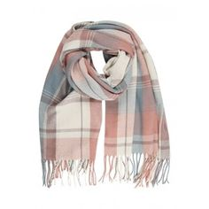 Womens' Pastel Check Scarf