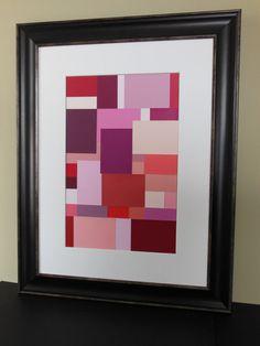Items similar to Abstract Paint Chip Wall Art on Etsy Paint Sample Art, Paint Swatch Art, Paint Swatches, Paint Samples, Paint Chip Wall, Paint Chip Cards, Diy Artwork, Diy Wall Art, Chip Art