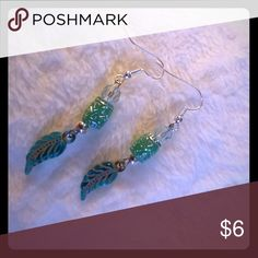 """Brand new! Beautiful Sea Green Earrings Brand new!! Handmade one of a kind.  About 1.5"""" drops. Matching bracelet and necklace available as well.  Smoke and pet free boutique! B11 Jewelry Earrings"""