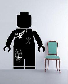 Chalkboard Vinyl Decal Lego Decals Children decals by YMDecals, $30.00