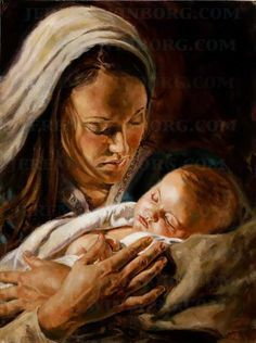 portrait of mary and the baby jesus oil painting nativity