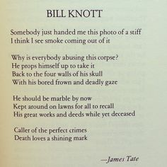 "James Tate, from the feature ""A Portfolio of Photographs of Writers Accompanied by Poems."""