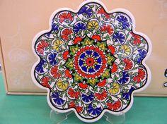 Turkish Hand Made 18 cm Iznik and Ottoman Designed Trivet Hot Plate on Etsy, $10.09