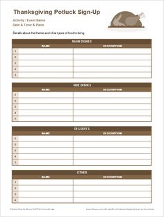 download the thanksgiving potluck sign up sheet from vertex42com