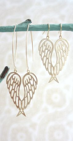 Gorgeous gold wing earrings