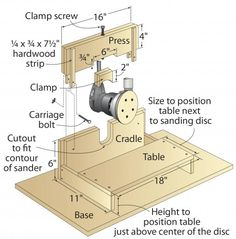 Click To Enlarge - Convert your R.O. sander to an edge sander