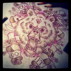 #tattoo #flash #bear