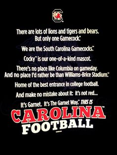 Carolina Football... GO GAMECOCKS!