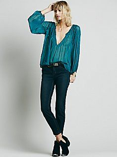 Free People Williamsburg Pitched Skinny $78