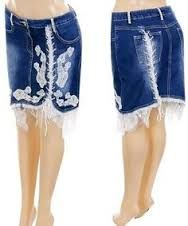 Image result for ideas for jeans to skirt