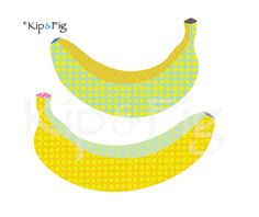 For the quilt - banana applique template - retro fruit applique design. £1.50, via Etsy. © Kip & Fig 2012