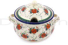 Polish Pottery 101 oz Tureen | Boleslawiec Stoneware | Polmedia H1210G